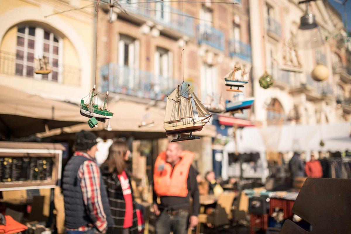 Déco sympa dans les rues à l'occasion de la Foire au hareng et à la coquille St Jacques de Dieppe