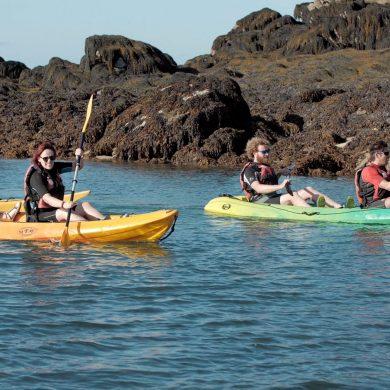 Met een vissersboot naar de Chausey-eilanden En daar kajakken