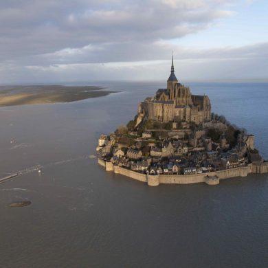 Eb en vloed bij de Mont Saint-Michel