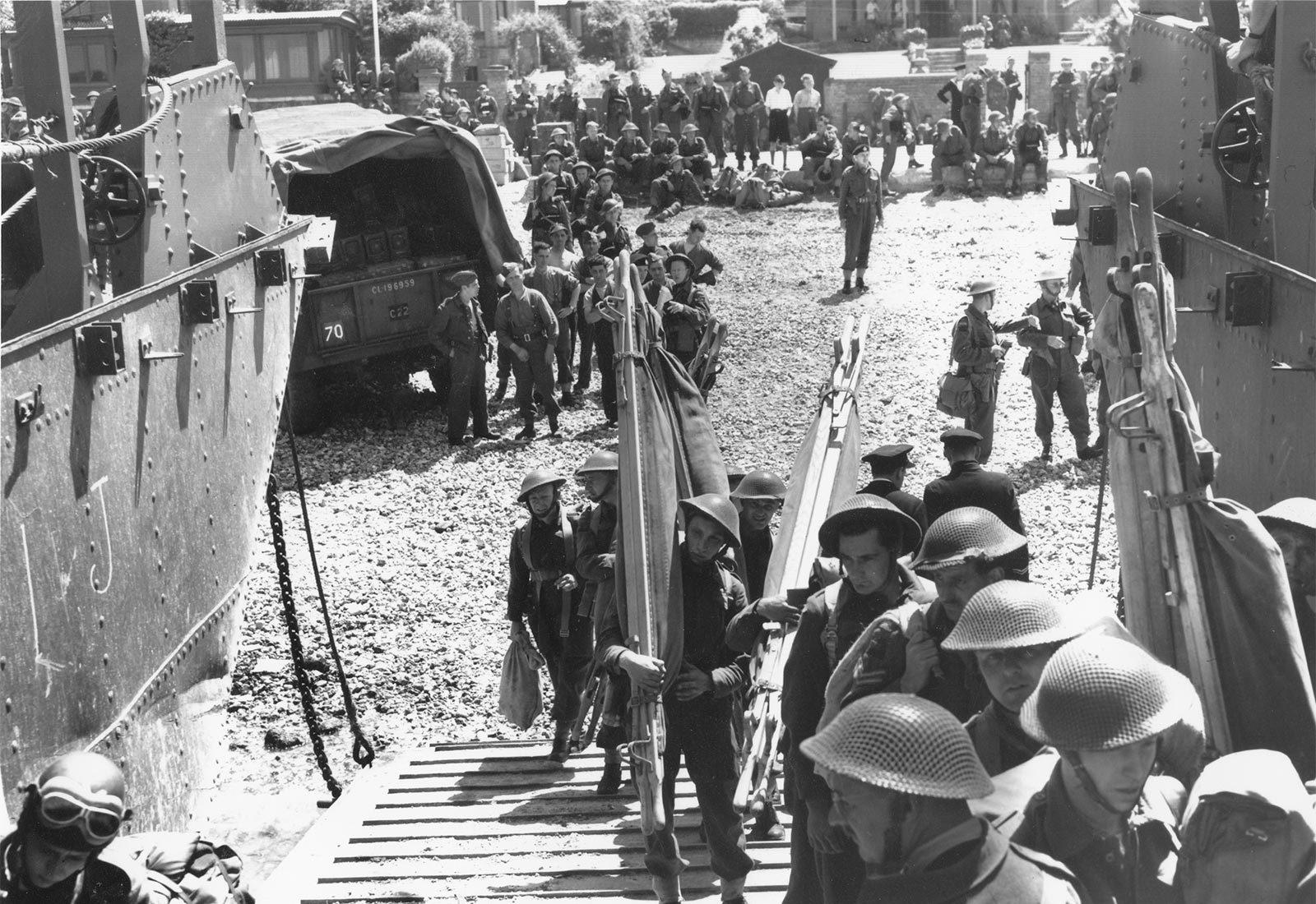 Préparation du raid sur Dieppe