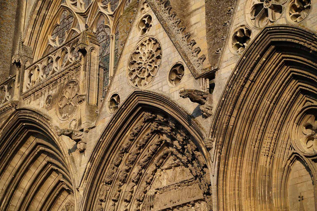 Cathédrale de Bayeux, détail architectural - Médiéval