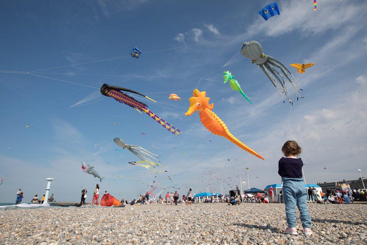 Festival du cerf-volant sur la plage de Dieppe