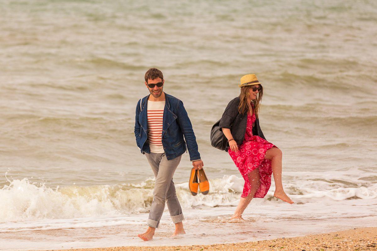 Couple que la plage de Trouville