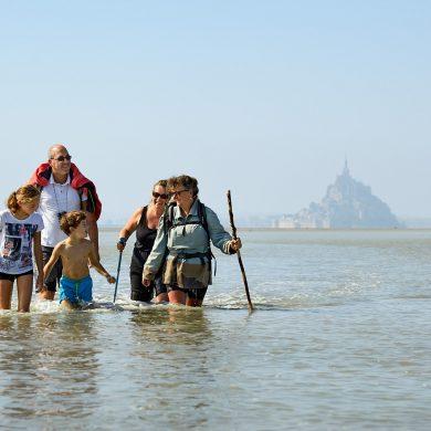 Wadlopen op zijn Frans in de Baai van de Mont Saint-Michel