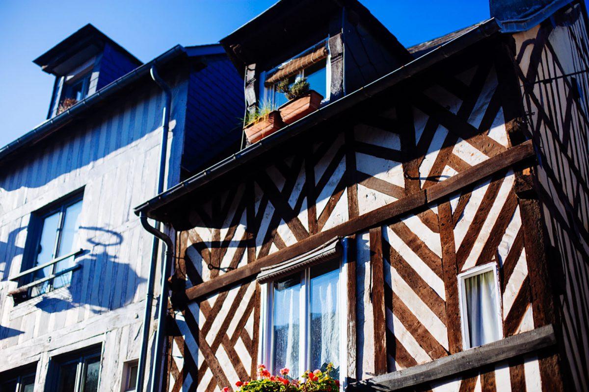 maisons à pans de bois à Honfleur