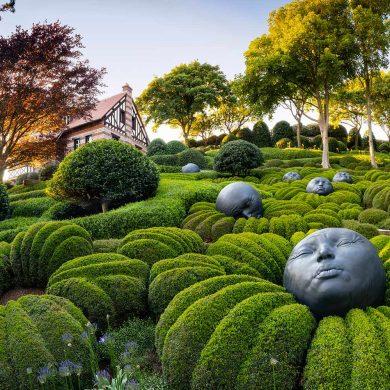 Beelden van kunstzinnige tuinen